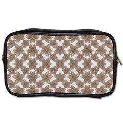 Stylized Leaves Floral Collage Toiletries Bags
