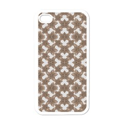 Stylized Leaves Floral Collage Apple iPhone 4 Case (White)