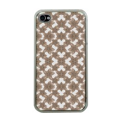 Stylized Leaves Floral Collage Apple iPhone 4 Case (Clear)