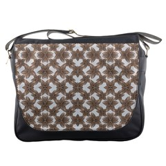 Stylized Leaves Floral Collage Messenger Bags