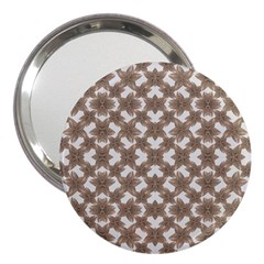 Stylized Leaves Floral Collage 3  Handbag Mirrors