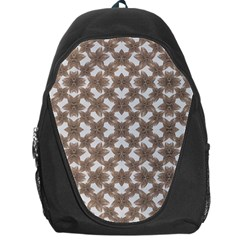 Stylized Leaves Floral Collage Backpack Bag