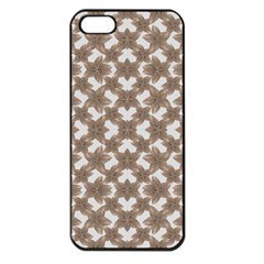 Stylized Leaves Floral Collage Apple iPhone 5 Seamless Case (Black)