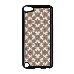 Stylized Leaves Floral Collage Apple iPod Touch 5 Case (Black)
