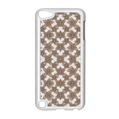 Stylized Leaves Floral Collage Apple iPod Touch 5 Case (White)