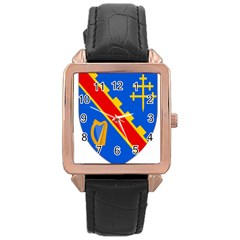 County Armagh Coat of Arms Rose Gold Leather Watch