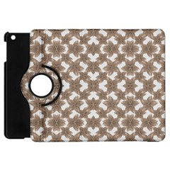 Stylized Leaves Floral Collage Apple iPad Mini Flip 360 Case