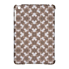 Stylized Leaves Floral Collage Apple iPad Mini Hardshell Case (Compatible with Smart Cover)
