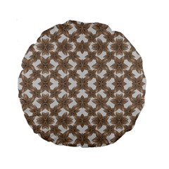 Stylized Leaves Floral Collage Standard 15  Premium Round Cushions