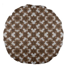 Stylized Leaves Floral Collage Large 18  Premium Round Cushions