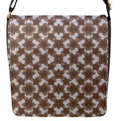 Stylized Leaves Floral Collage Flap Messenger Bag (S)