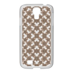 Stylized Leaves Floral Collage Samsung GALAXY S4 I9500/ I9505 Case (White)