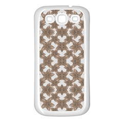 Stylized Leaves Floral Collage Samsung Galaxy S3 Back Case (White)
