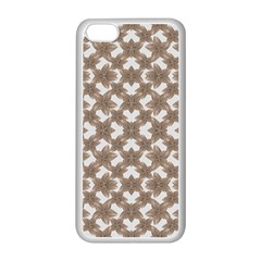 Stylized Leaves Floral Collage Apple iPhone 5C Seamless Case (White)