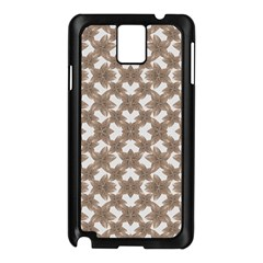 Stylized Leaves Floral Collage Samsung Galaxy Note 3 N9005 Case (Black)