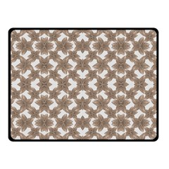 Stylized Leaves Floral Collage Double Sided Fleece Blanket (Small)