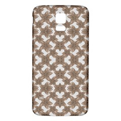 Stylized Leaves Floral Collage Samsung Galaxy S5 Back Case (White)