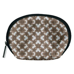 Stylized Leaves Floral Collage Accessory Pouches (Medium)