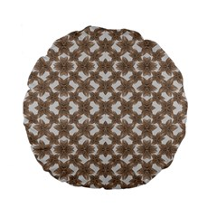 Stylized Leaves Floral Collage Standard 15  Premium Flano Round Cushions