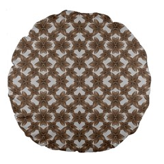 Stylized Leaves Floral Collage Large 18  Premium Flano Round Cushions