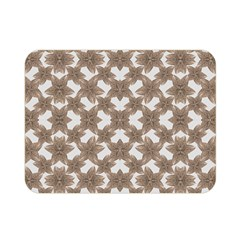 Stylized Leaves Floral Collage Double Sided Flano Blanket (Mini)