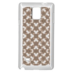Stylized Leaves Floral Collage Samsung Galaxy Note 4 Case (White)