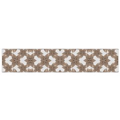 Stylized Leaves Floral Collage Flano Scarf (Small)