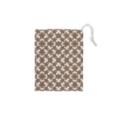 Stylized Leaves Floral Collage Drawstring Pouches (XS)