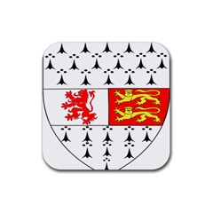 County Carlow Coat of Arms Rubber Square Coaster (4 pack)
