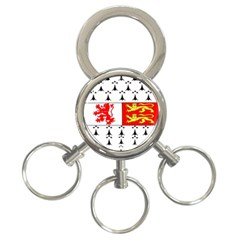 County Carlow Coat of Arms 3-Ring Key Chains