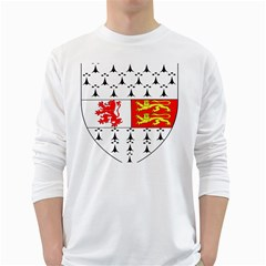 County Carlow Coat of Arms White Long Sleeve T-Shirts
