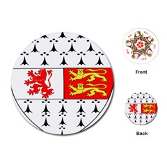 County Carlow Coat of Arms Playing Cards (Round)