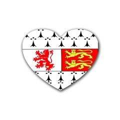 County Carlow Coat of Arms Heart Coaster (4 pack)