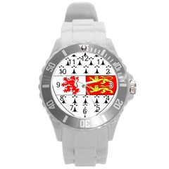 County Carlow Coat Of Arms Round Plastic Sport Watch (l)