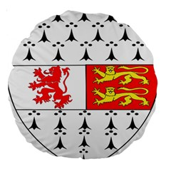 County Carlow Coat of Arms Large 18  Premium Round Cushions
