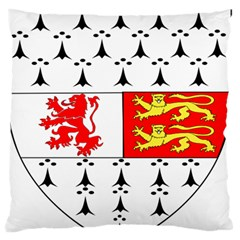 County Carlow Coat of Arms Large Flano Cushion Case (Two Sides)