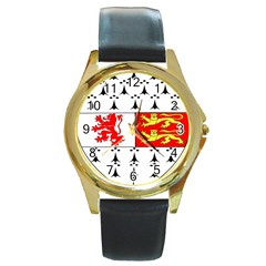 County Carlow Coat of Arms Round Gold Metal Watch