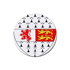 County Carlow Coat of Arms Rubber Coaster (Round)