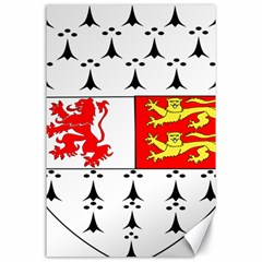 County Carlow Coat of Arms Canvas 24  x 36