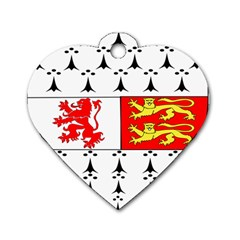 County Carlow Coat of Arms Dog Tag Heart (One Side)