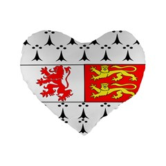 County Carlow Coat of Arms Standard 16  Premium Heart Shape Cushions