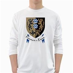 Cavan County Council Crest White Long Sleeve T-Shirts