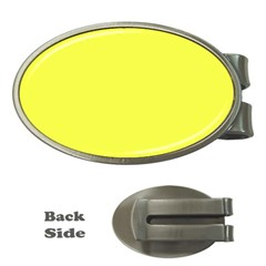 Neon Color - Light Brilliant Yellow Money Clips (Oval)