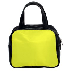 Neon Color - Light Brilliant Yellow Classic Handbags (2 Sides)