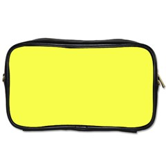 Neon Color - Light Brilliant Yellow Toiletries Bags 2-Side