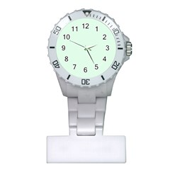 Neon Color - Light Malachite Greenish Gray Plastic Nurses Watch