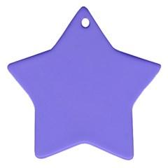 Neon Color - Light Persian Blue Ornament (Star)
