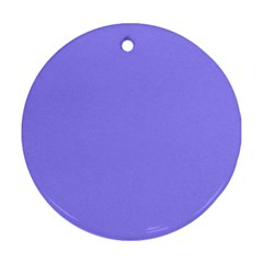 Neon Color - Light Persian Blue Round Ornament (Two Sides)