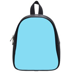Neon Color - Luminous Vivid Blue School Bags (Small)