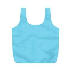 Neon Color - Luminous Vivid Blue Full Print Recycle Bags (M)